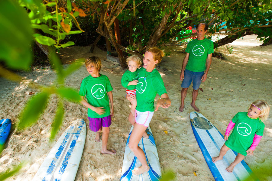 lesson for all ages family punta cana surf school